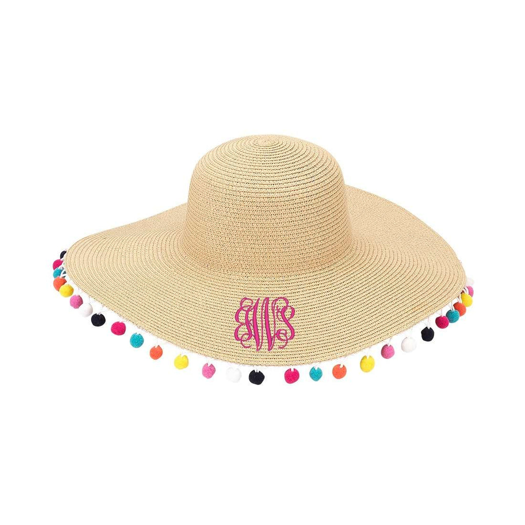 Personalized Monogrammed Womens Floppy Hat