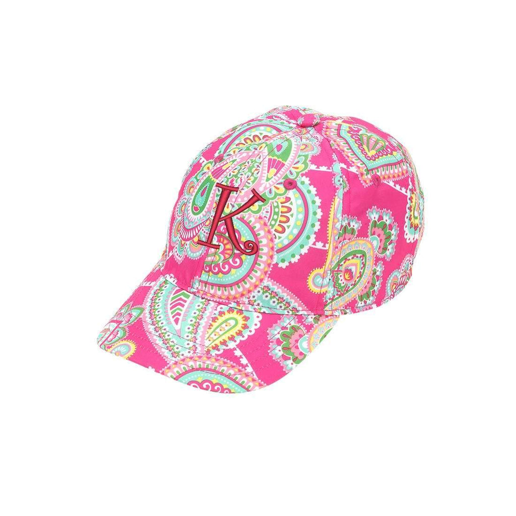 Personalized Monogrammed Kids Baseball Cap Toddler Hat - Paisley Pink & Mint