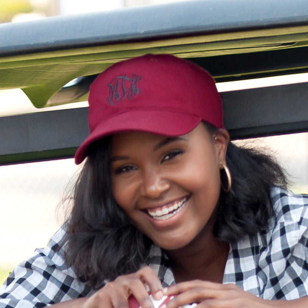 Personalized Baseball Hat Cap - Garnet