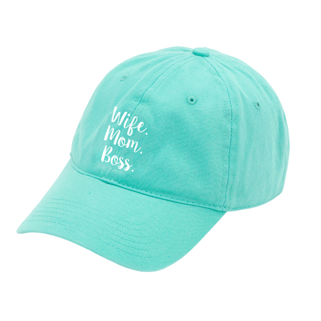 Wife. Mom. Boss. Mint Cap