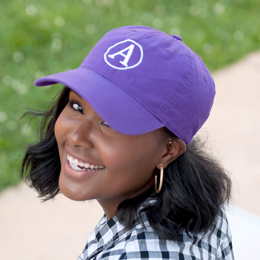 Personalized Baseball Hat Cap - Purple
