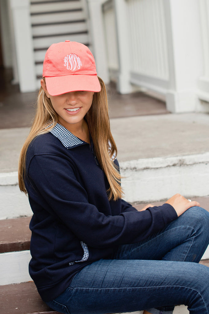 Personalized Baseball Hat Cap - Coral