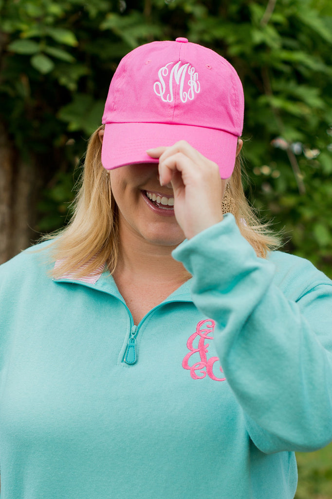 Personalized Baseball Hat Cap - Hot Pink