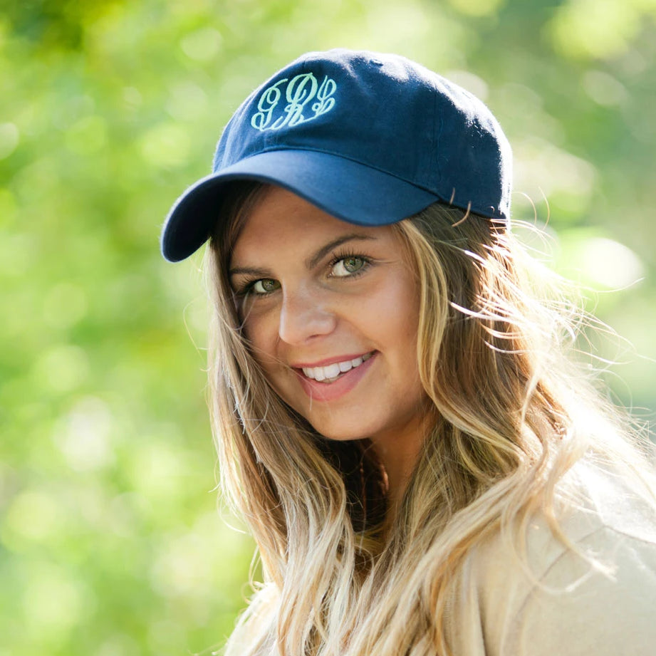 Personalized Baseball Hat Cap - Navy Blue