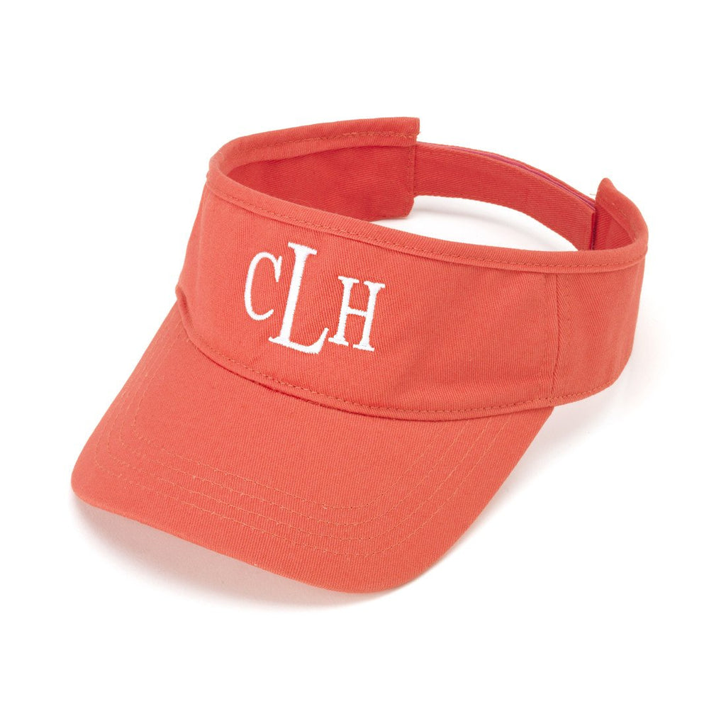 Personalized Womens Visor Cap - Coral