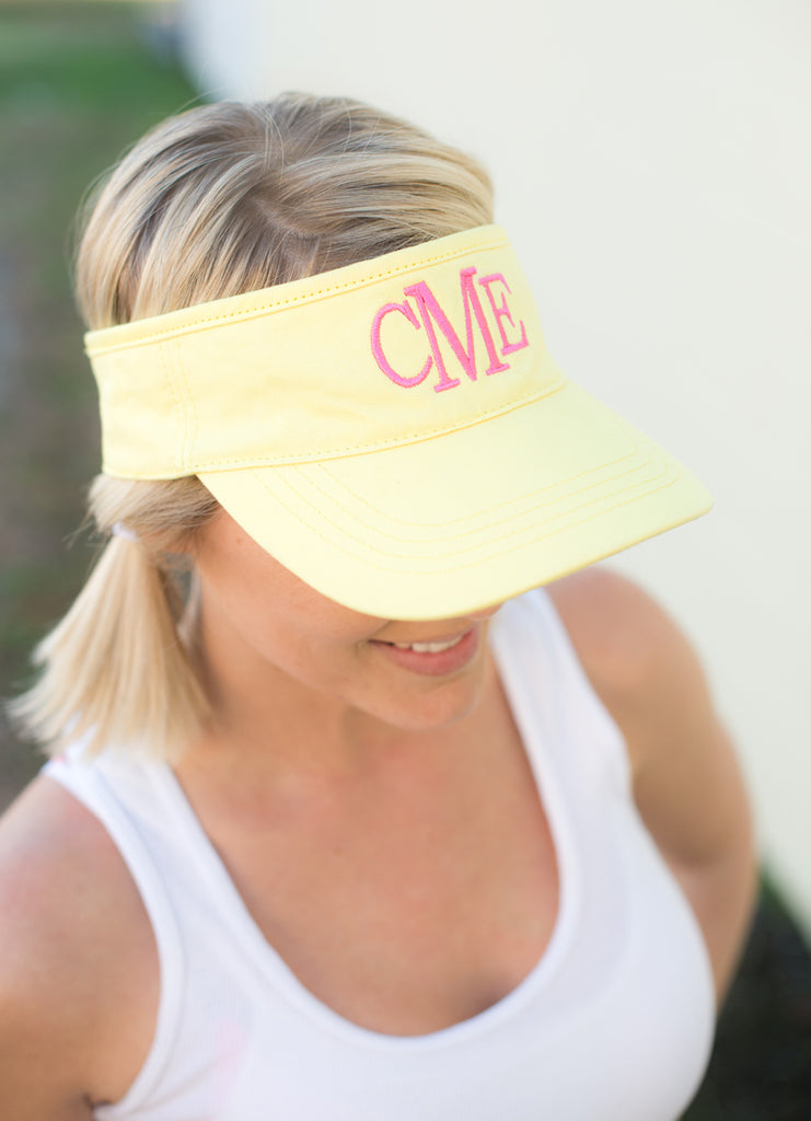 Personalized Womens Visor Cap - Yellow