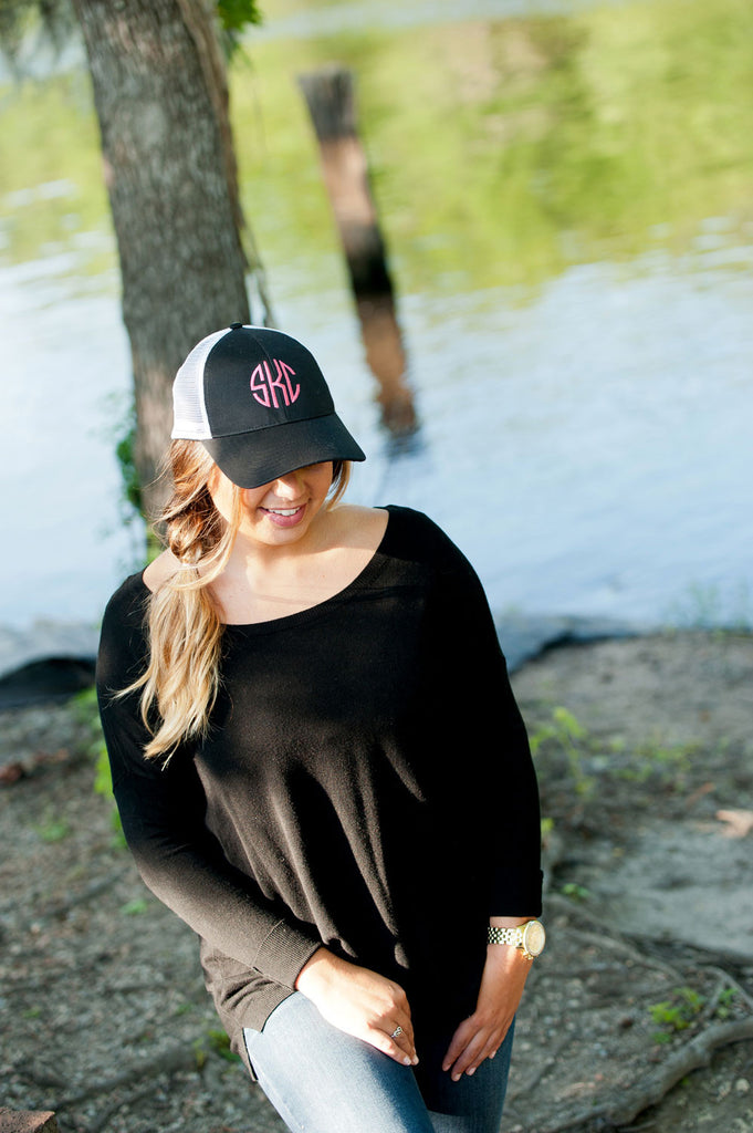 Personalized Monogrammed Trucker Hat Baseball Cap - Gifts Happen Here - 12