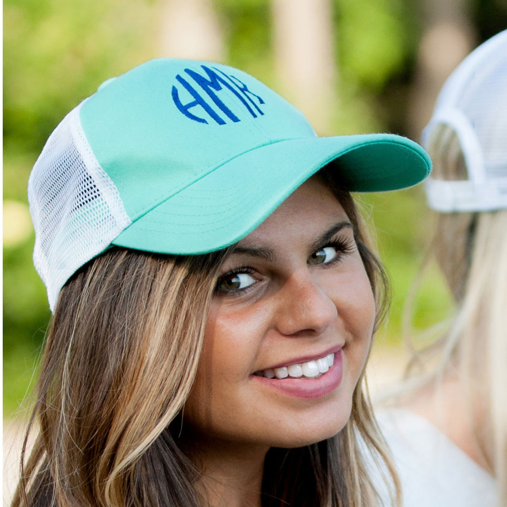 Personalized Monogrammed Trucker Hat Baseball Cap - Gifts Happen Here - 16