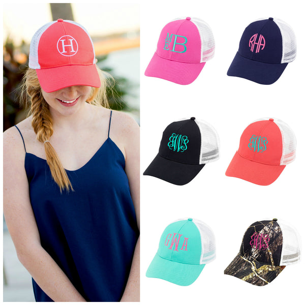 Personalized Monogrammed Trucker Hat Baseball Cap - Gifts Happen Here - 1