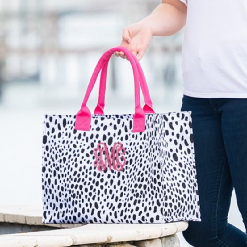Personalized Spot On Spotted Animal Print Tote Bag