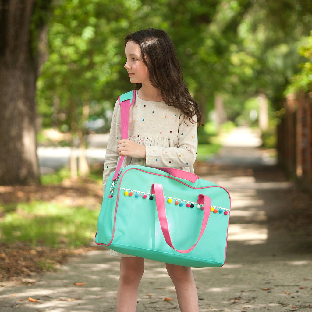 Personalized Pom-Pom Travel Bag for Kids