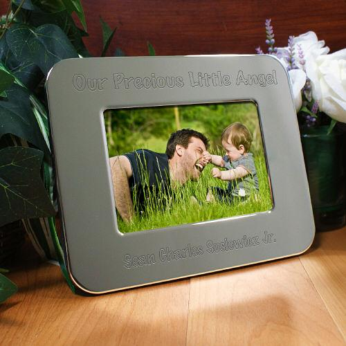 Personalized Engraved Little Angel Silver Picture Frame