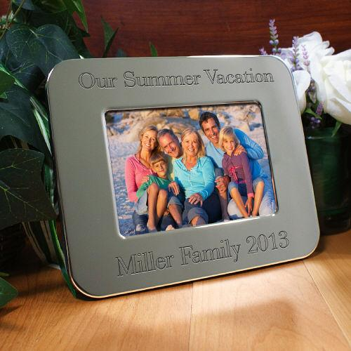 Personalized Engraved Vacation Silver Picture Frame