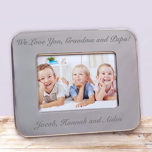 Personalized Custom Message Silver Picture Frame