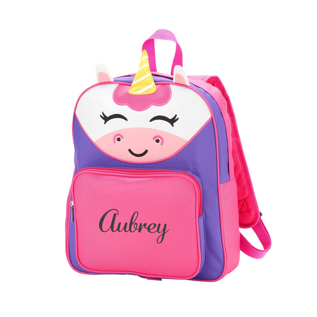 Embroidered Pink Toddler Unicorn Backpack Monogrammed Girls Preschool Unicorn Backpack,Monogrammed Pre K Pink Purple Backpack and Lunch Bag