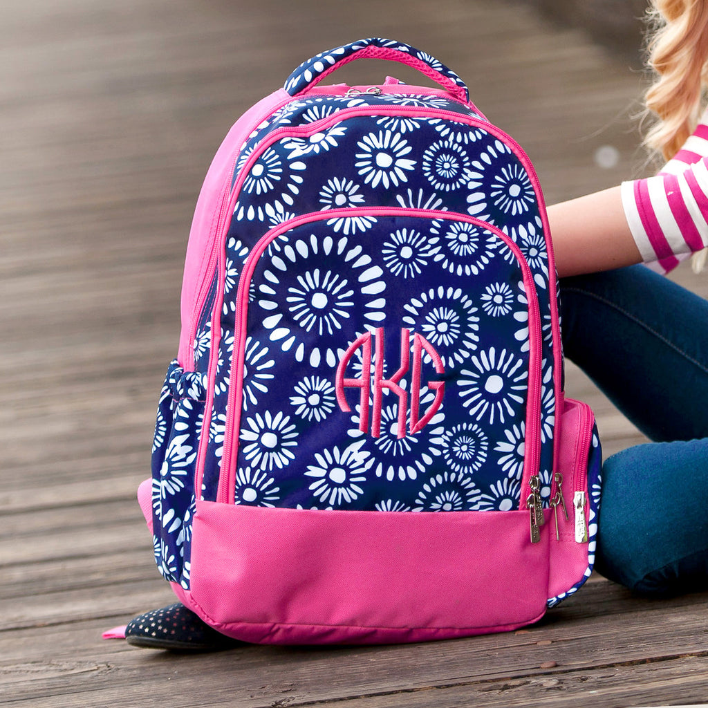 Personalized Backpack Bookbag Kids School Tote Bag - Boho Blast