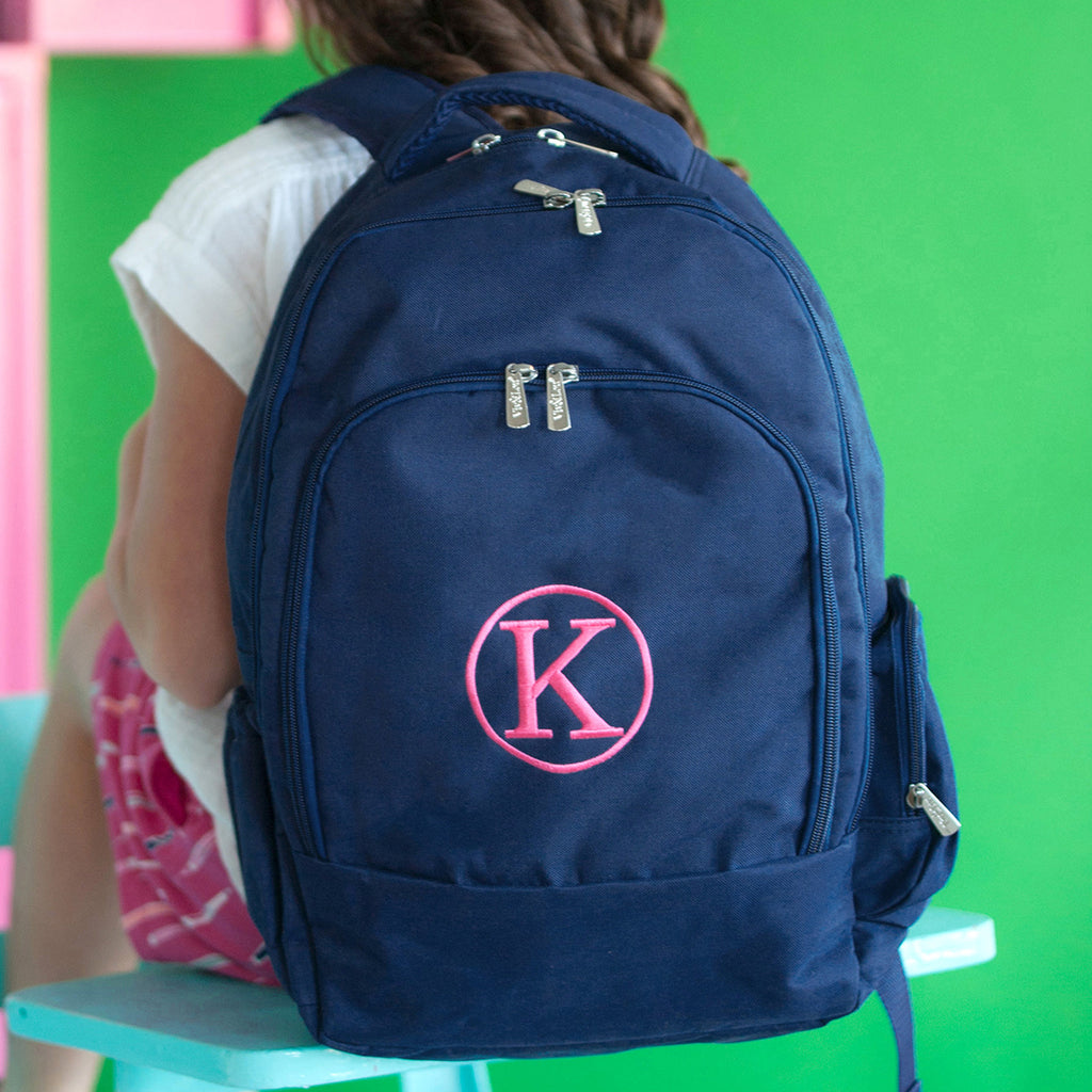 Personalized Backpack Bookbag Kids School Tote Bag - Navy