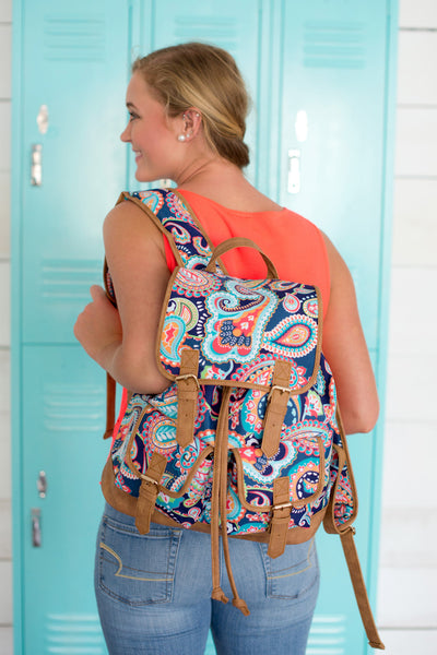 Monogrammed Campus Backpack Full Size Teen Bookbag - Gifts Happen Here - 13