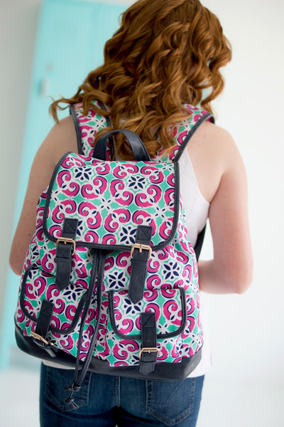 Monogrammed Campus Backpack Full Size Teen Bookbag - Gifts Happen Here - 17