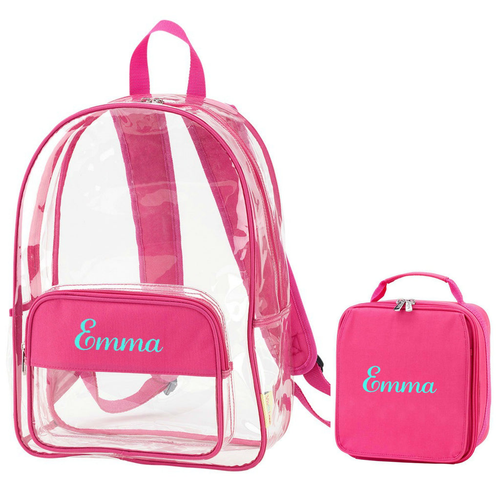 Personalized Clear Backpack & Lunch Box Set