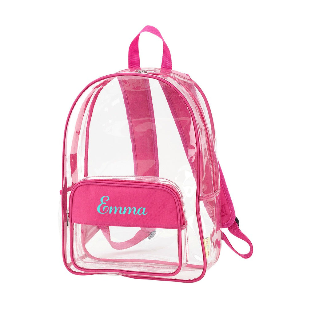 "Personalized Clear Backpack - 17"" Full Size"