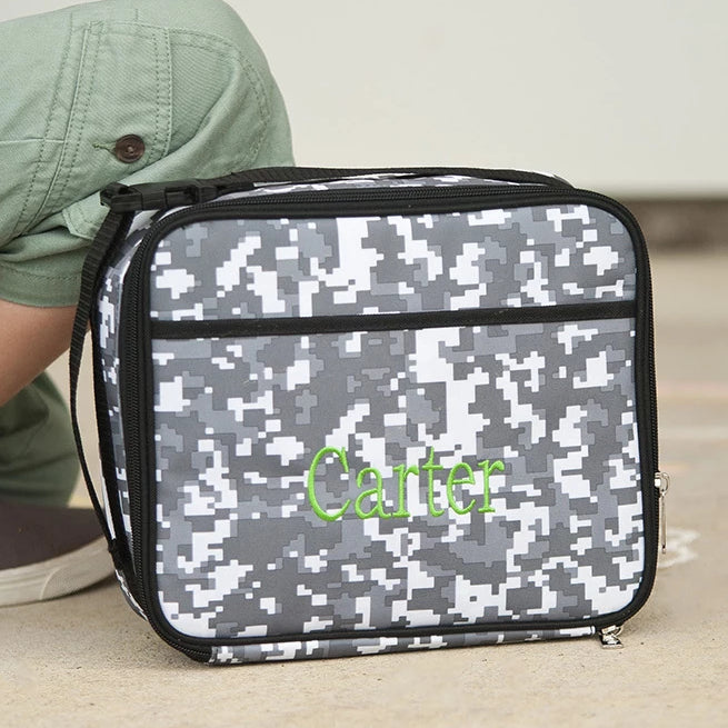 Personalized Lunch Bag - Monogrammed Lunchbox - Digi Camo