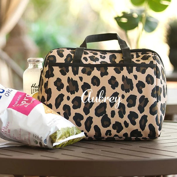 Personalized Leopard Lunch Bag