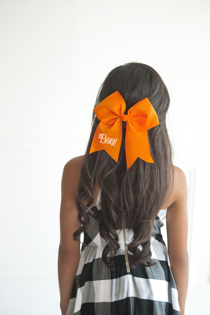 Boo! Halloween Orange Hair Bow