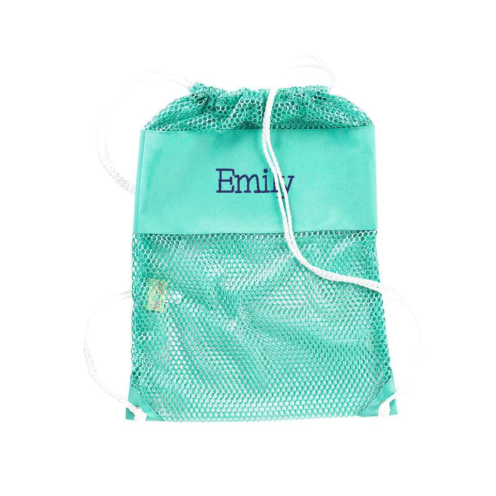 Personalized Kids Mesh Backpack Beach Bag