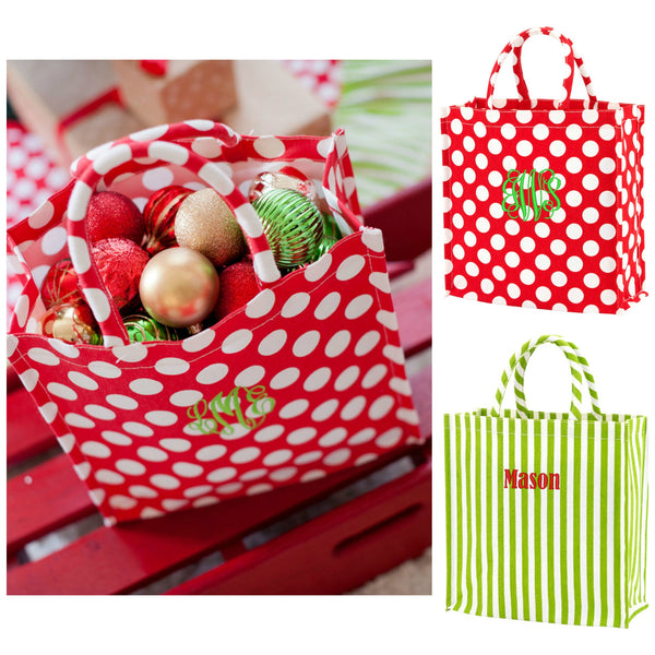 Personalized Christmas Tote Bag
