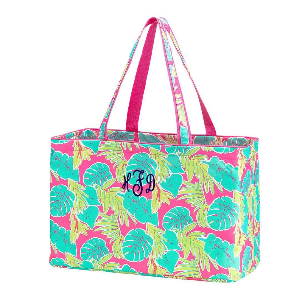 Personalized Large Utility Tote - Beach Bag - Picnic Basket - Totally Tropics
