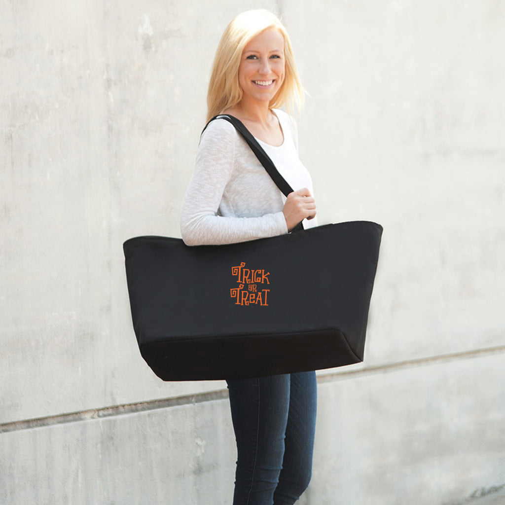 Trick or Treat Black Halloween Ultimate Tote Bag