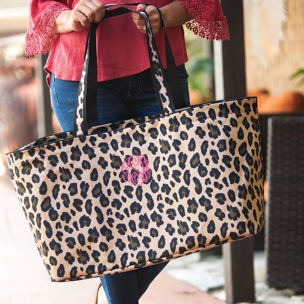 Personalized Leopard Ultimate Large Utility Tote Bag