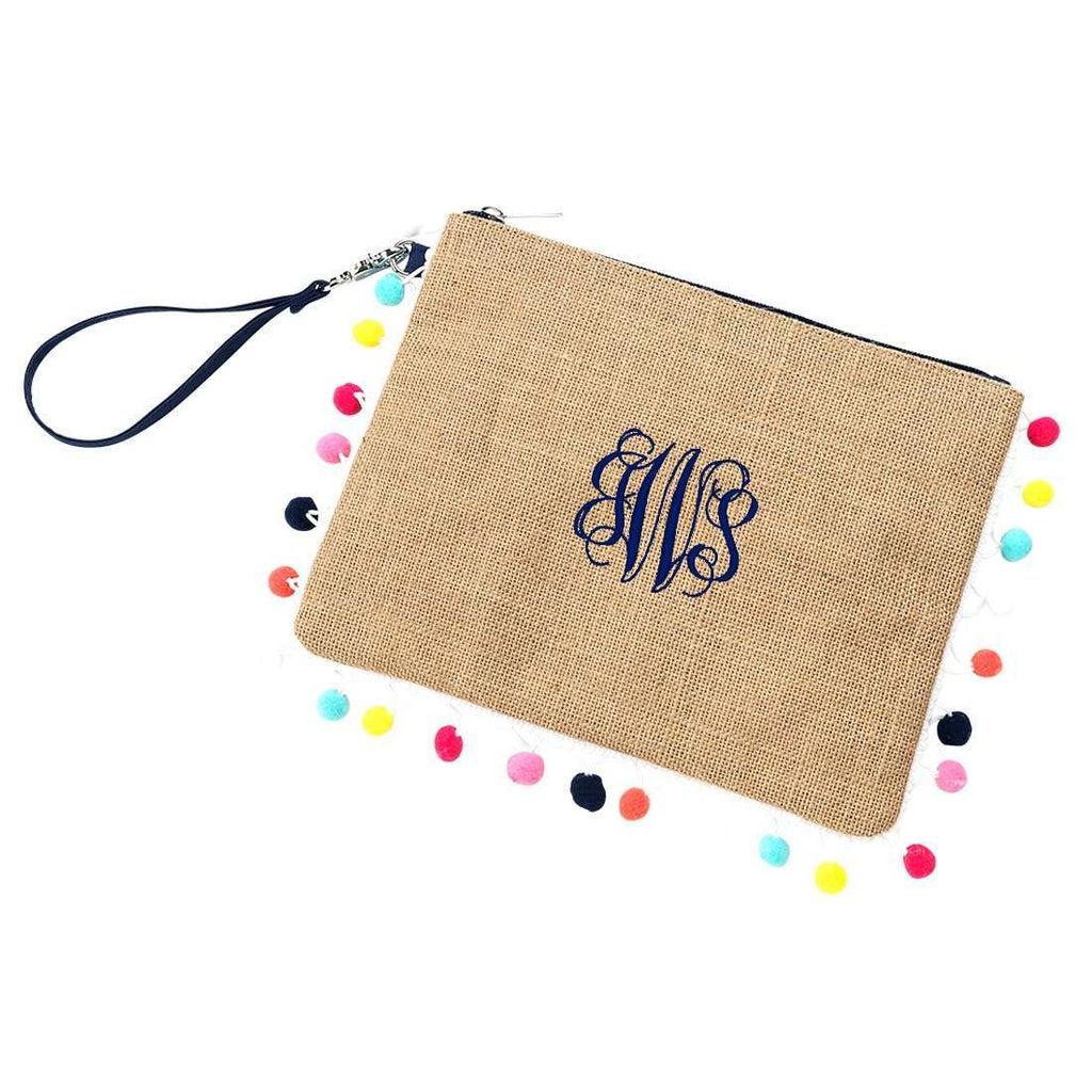 Personalized Burlap Pom Pom Collection