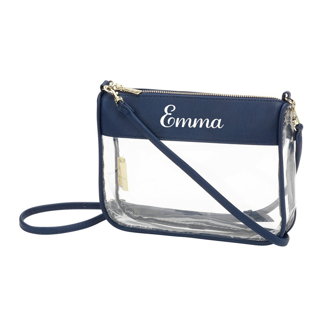 Personalized Clear Crossbody Purse