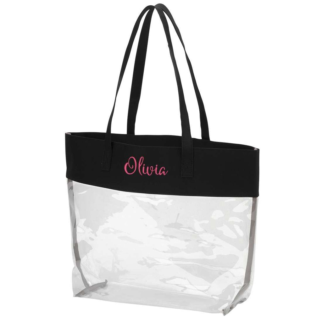 Personalized Stadium Tote Bag - Clear Purse