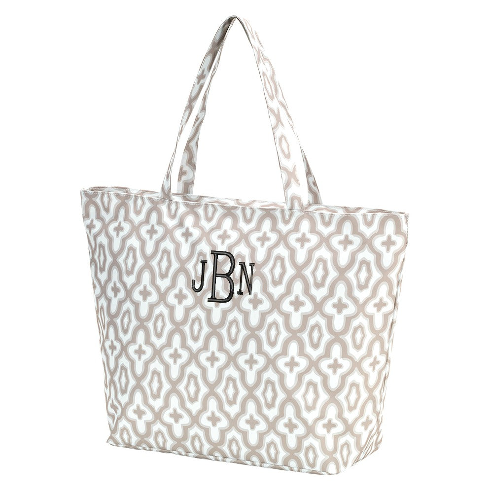 Personalized Zip Top Tote Bag