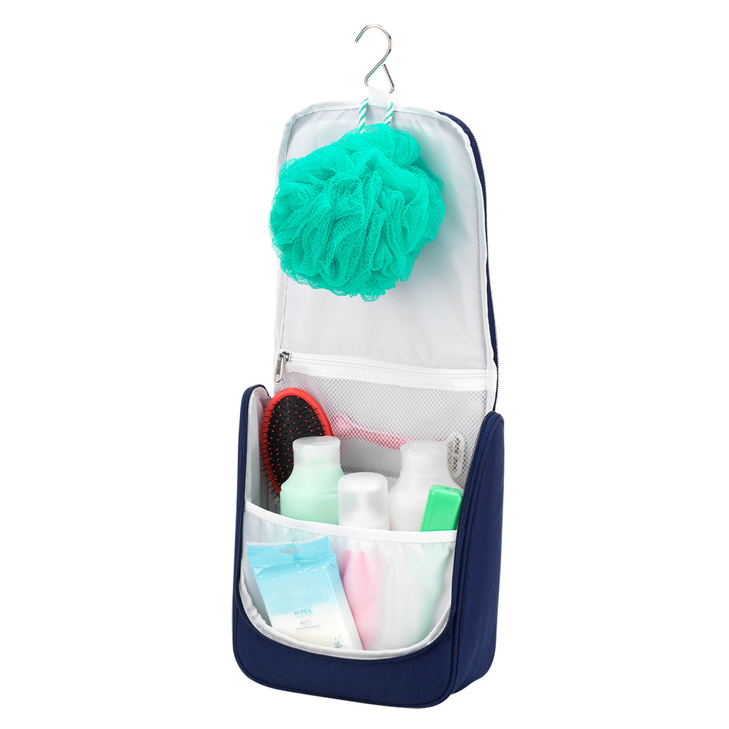 #momlife Navy Hanging Travel Case