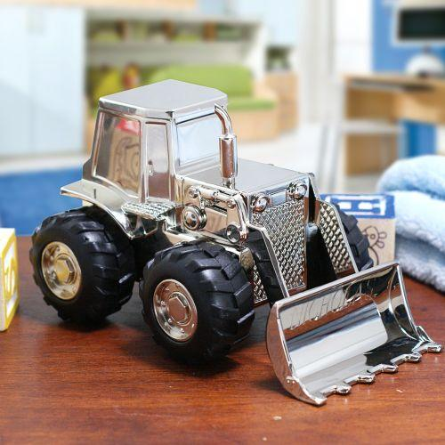 Personalized Engraved Tractor Bank