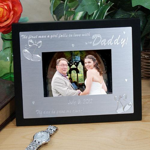 Personalized Engraved Is Her Daddy Silver And Black Frame
