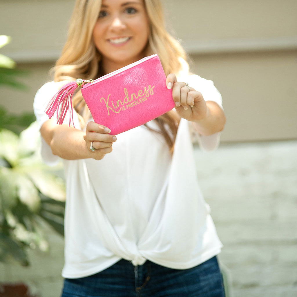 Inspirational Gold Foil Gift Coin Purse