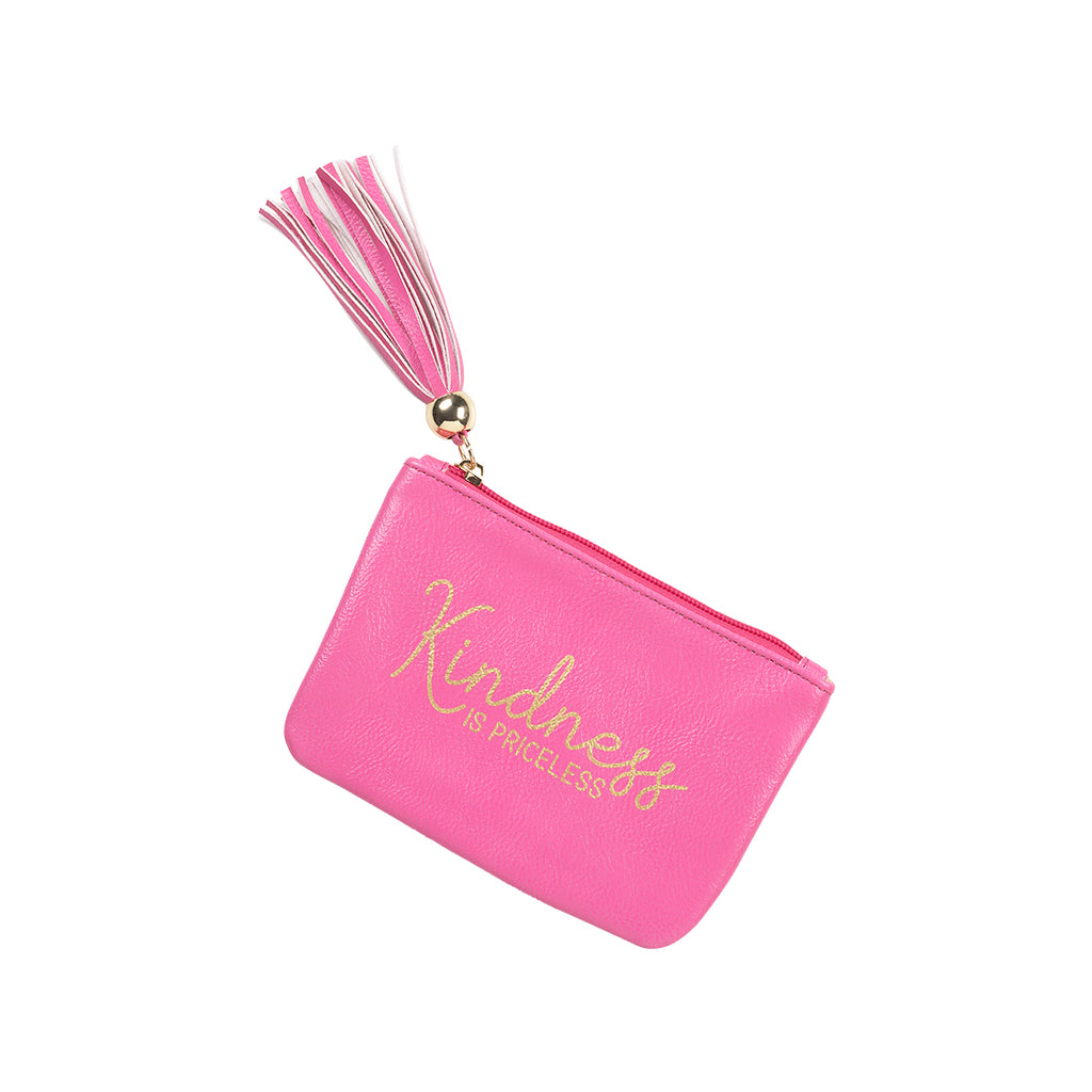 Hot Pink Kindness is Priceless Coin Purse