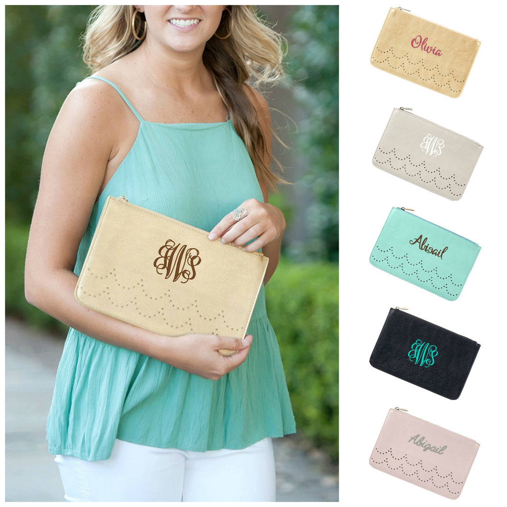 Personalized Clutch Purse - Vegan Leather
