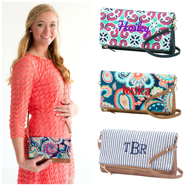 Monogrammed Crossbody Handbag Messenger Purse - Gifts Happen Here - 1
