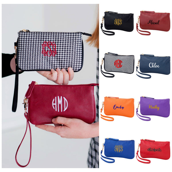 Personalized Mini Wristlet Wallet Team Color - Gifts Happen Here - 1