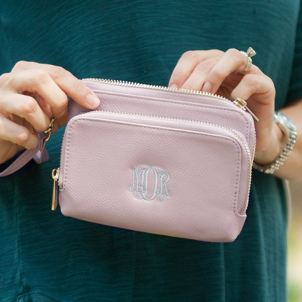 Personalized  Wristlet Wallet - Vegan Leather