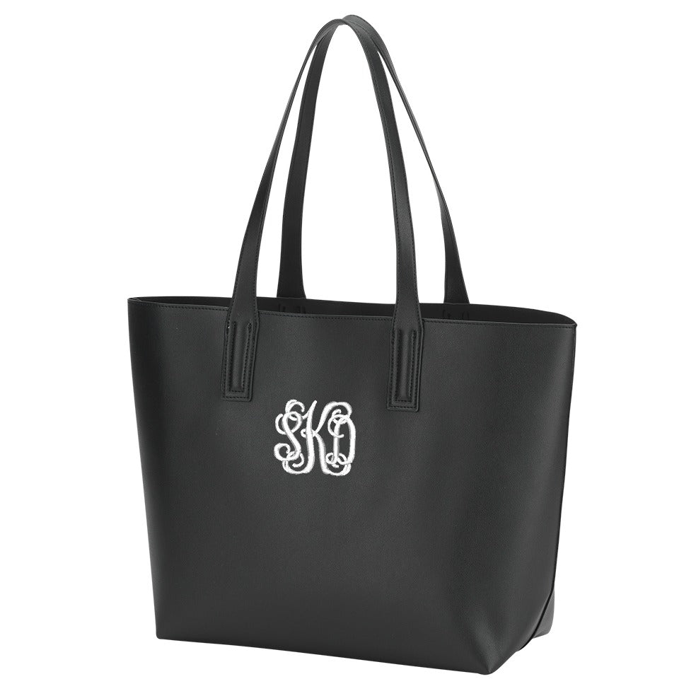 Monogrammed Large Handbag - Vegan Leather