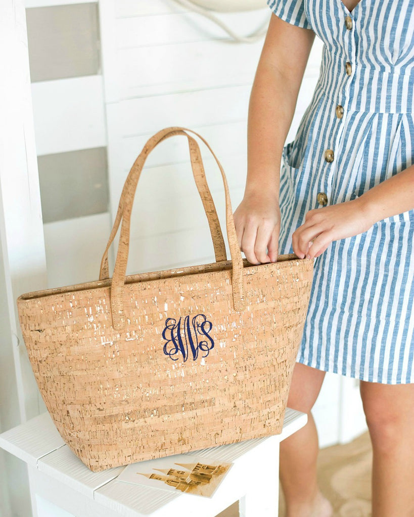 Personalized Cork Purse - Natural