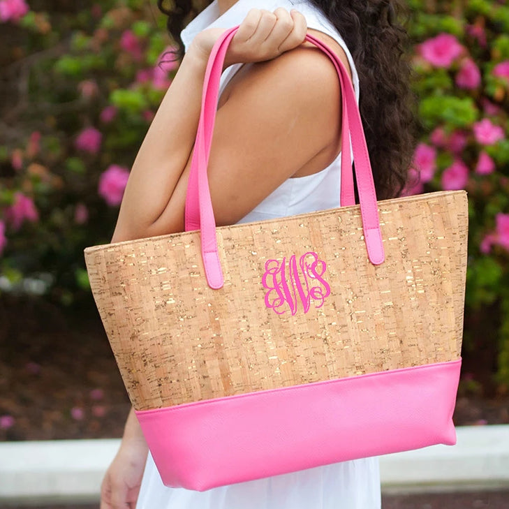 Personalized Cork Purse - Hot Pink