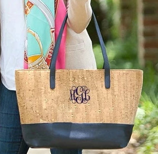 Personalized Cork Purse - Navy